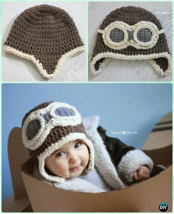 Crochet Aviator Hat Free Pattern Instructions-DIY Crochet Ear Flap ...
