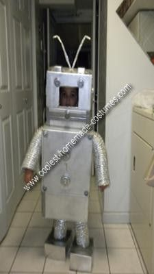 Details about  /Toddler Robot Costume Funny Halloween Fancy Dress