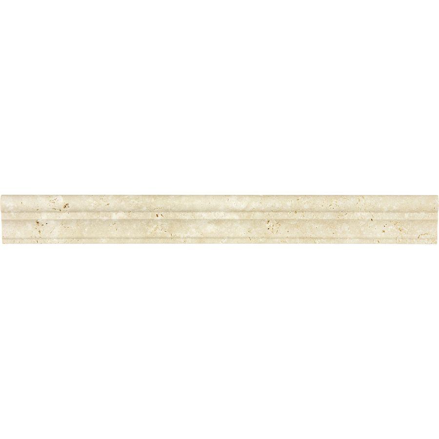 Anatolia tile chiaro natural stone travertine chair rail