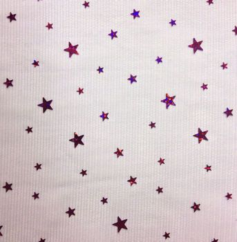 Halloween Spirit Collection- Stars On Mesh Purple Fabric