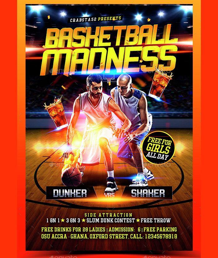 High Quality Basketball Flyer Flyer Templates Pinterest Psd