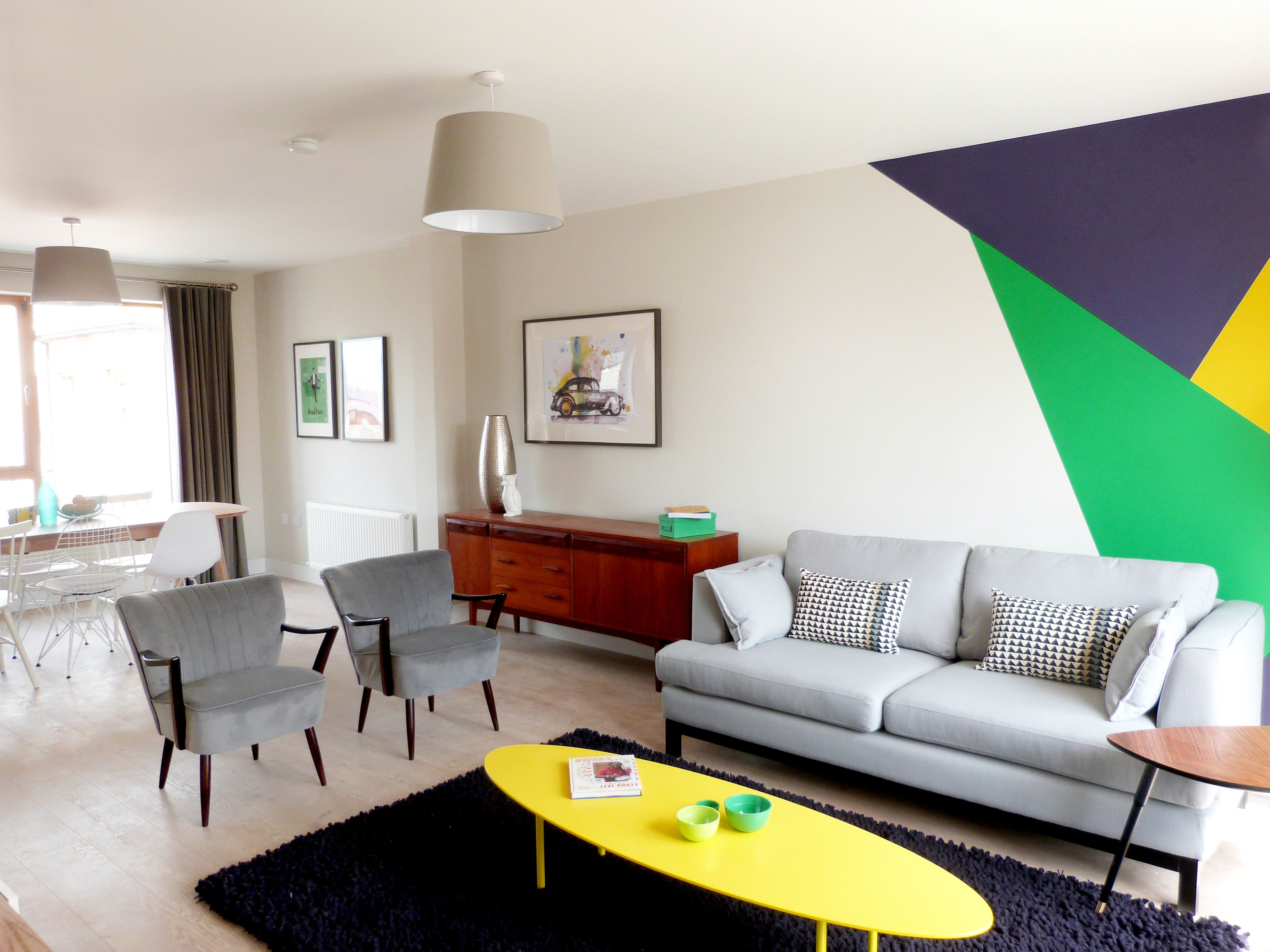 Residential Showhouse Design and Fit Out Living Room Open