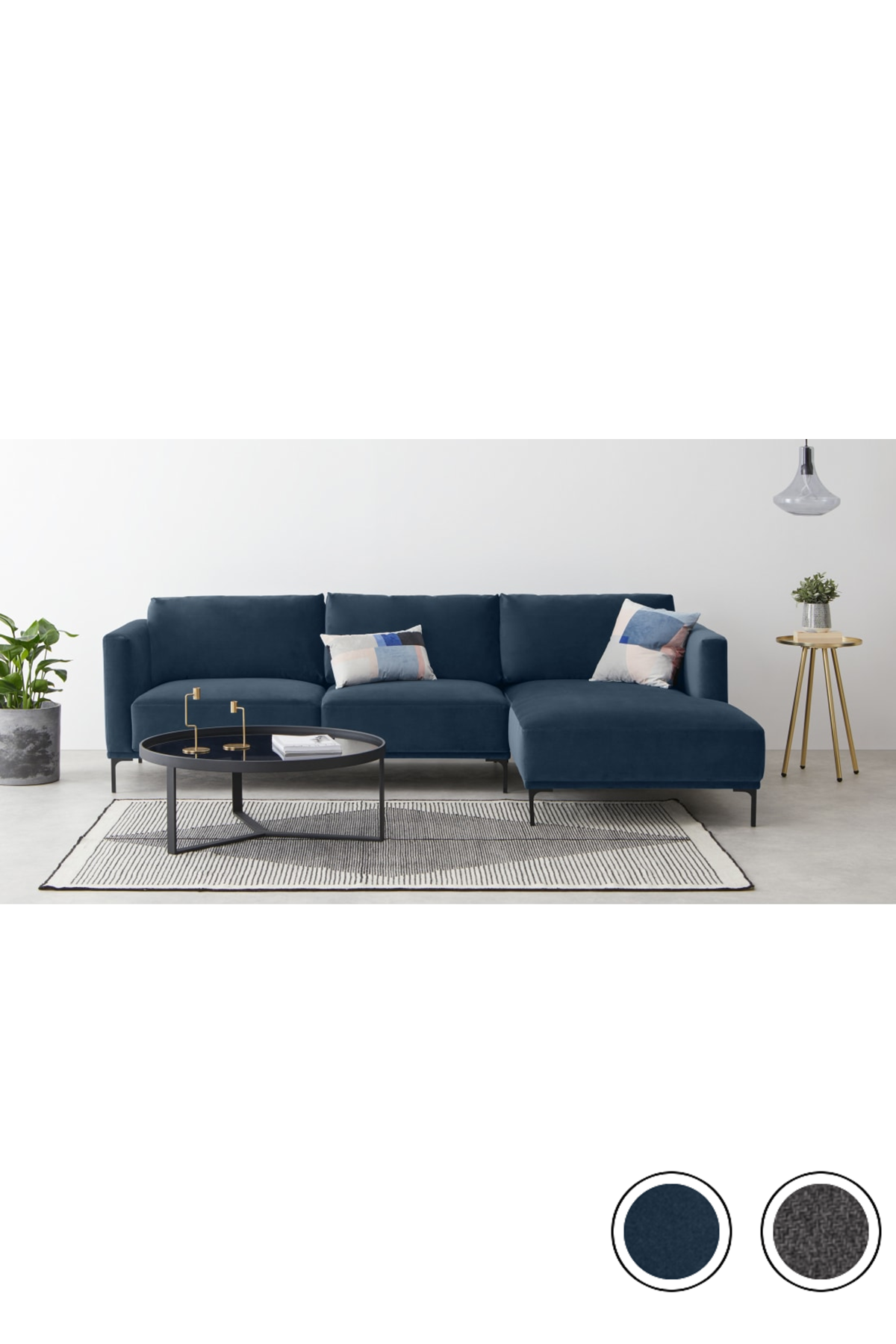 Made Sapphire Blue Corner Sofa Blue Corner Sofas Sofa Corner Sofa Chaise