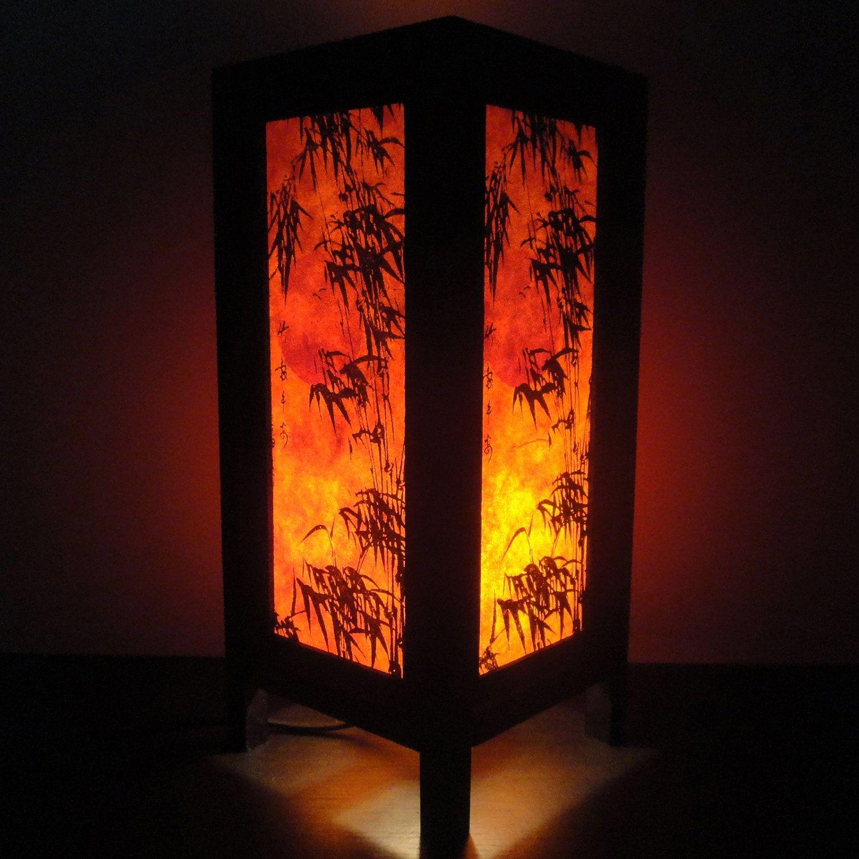 Asian Oriental Dawning Sunset Japanese Lamp Zen Bedside Lamp Floor