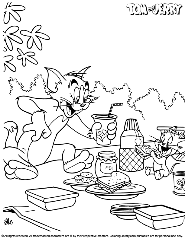 Tom And Jerry Color Pages AZ Coloring Pages nursery room Pinterest