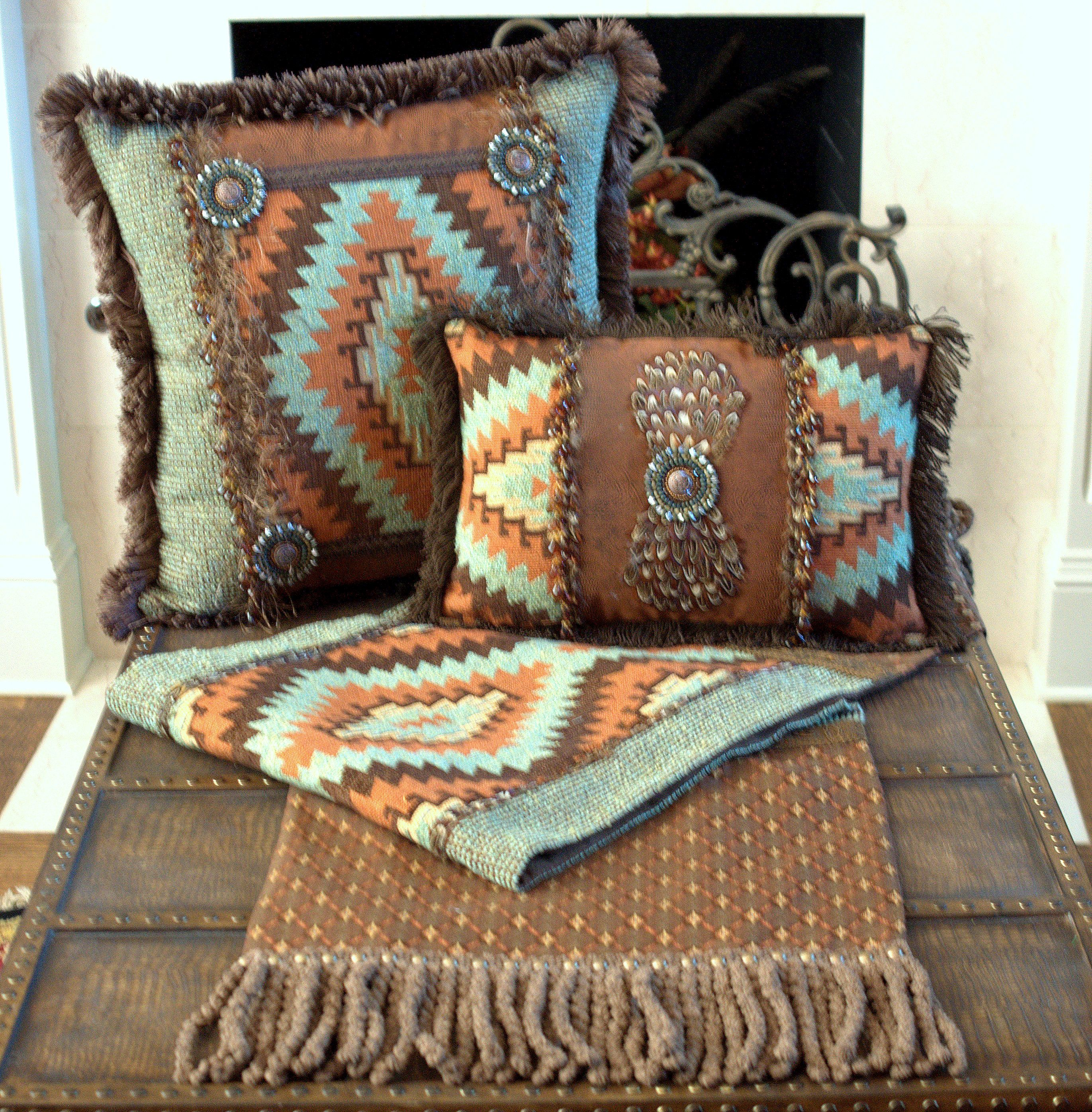 Table Runner Matching Pillows Ranch House Western Decor