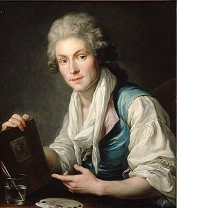 Portrait of a Miniature Painter 1780-1790  Unknown German, active during andra hälften av 1700-talet CategoryPaintings, Paintings Inventory No.NM 6655 AcquisitionGåva 1976 av fru Aagot Lagerlöf, Stockholm