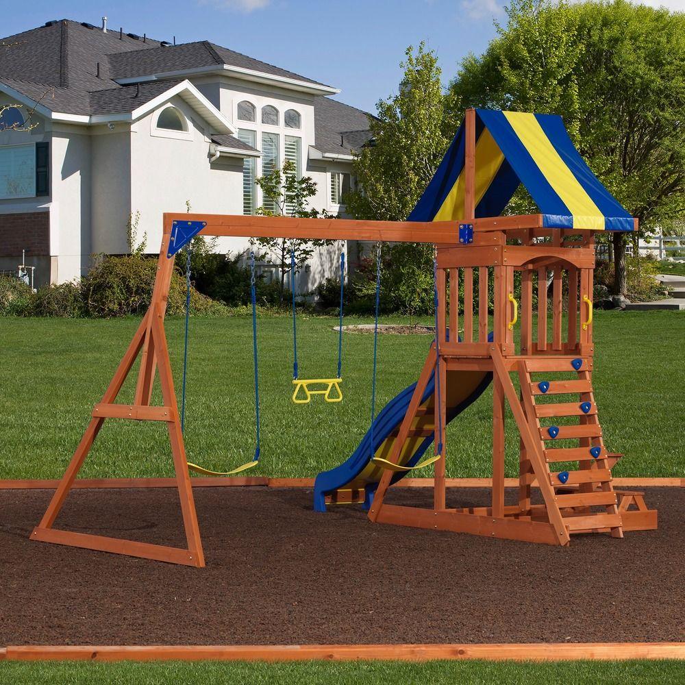 Backyard Discovery Providence Cedar Swingset with Sandbox ...