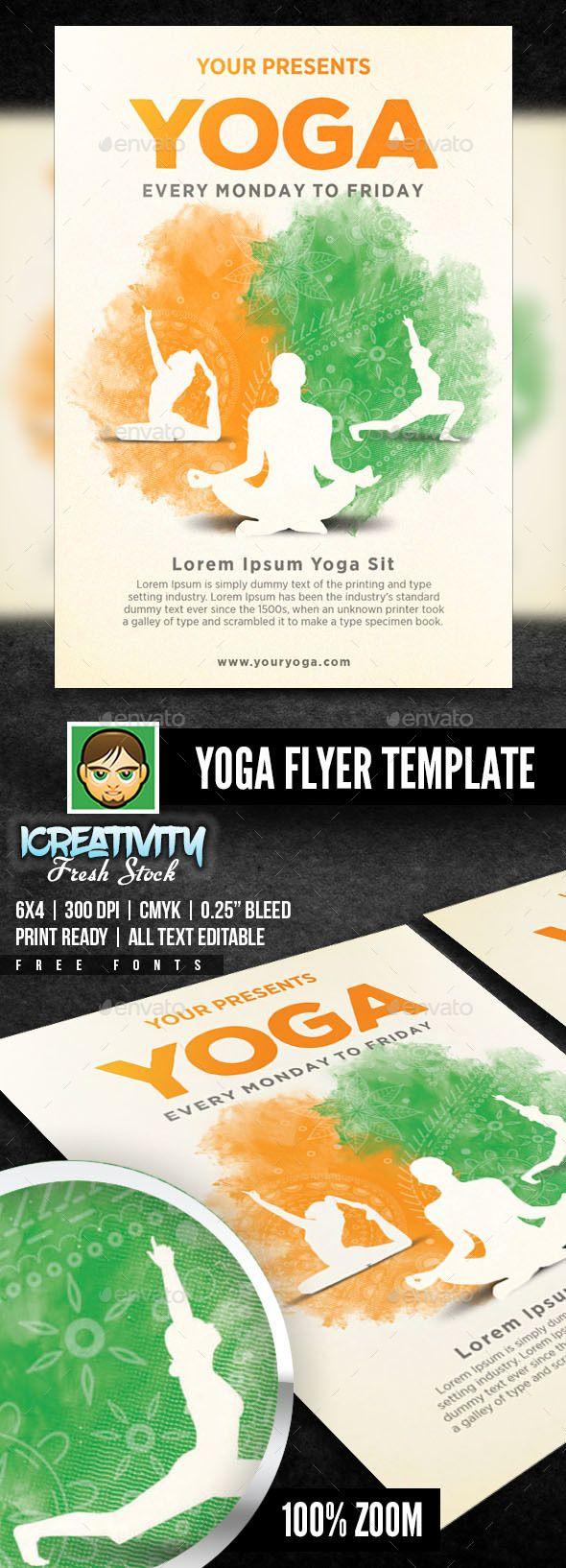 Ausgezeichnet Yoga Flyer Vorlage Galerie - Beispiel Wiederaufnahme ...