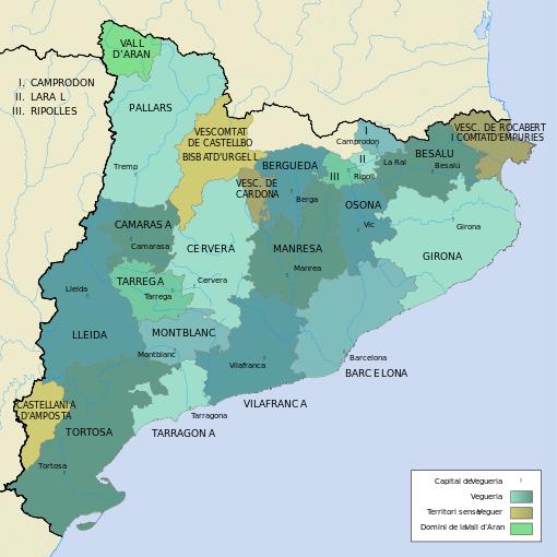 Vegueries Catalunya 1304 Vegueria Viquipèdia L Enciclopèdia Lliure Enciclopedias Historia
