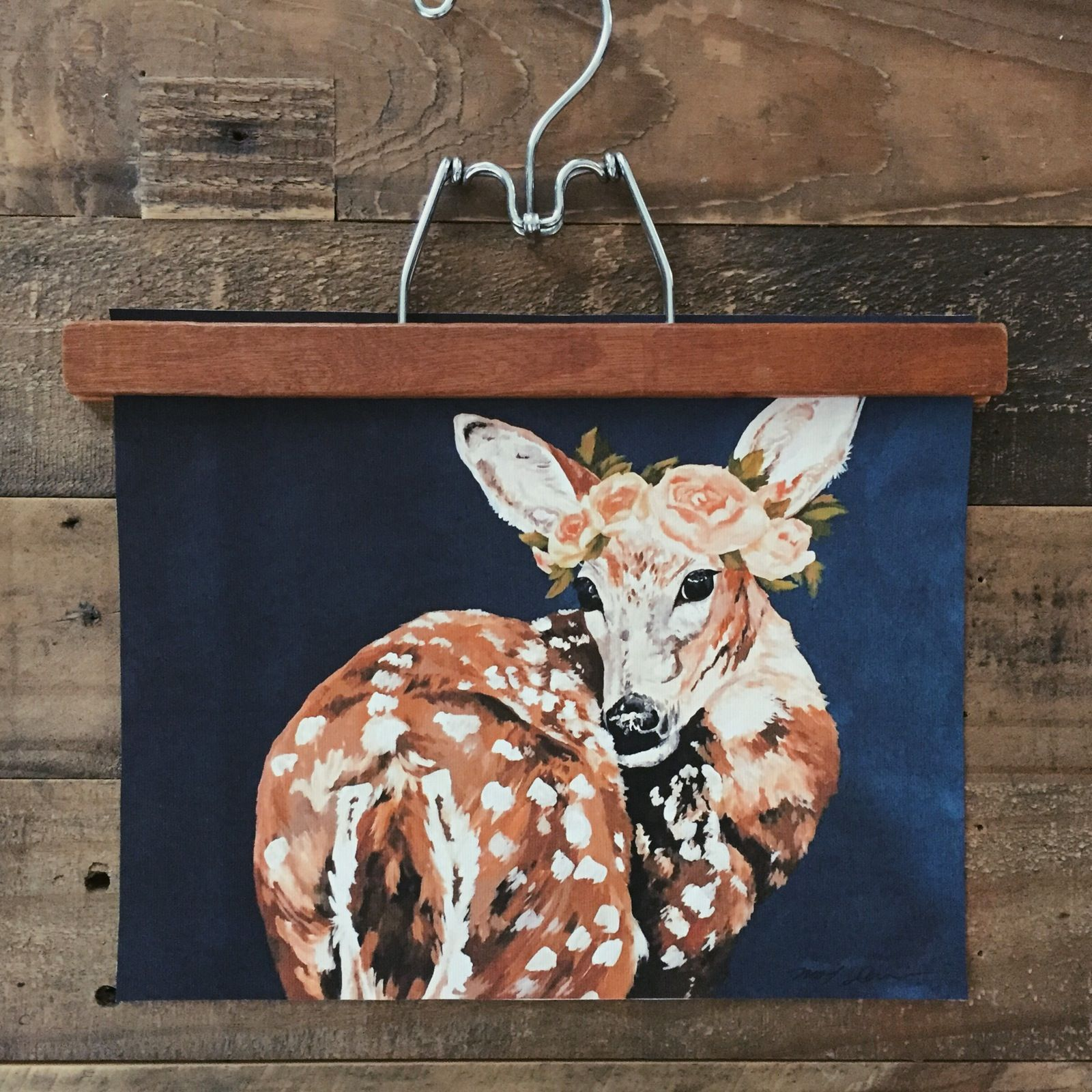 Canvas prints from my original acrylic painting of a crowned deer with a deep blue background.Canvas print measurements 8 x 11Packaged with care before shipping