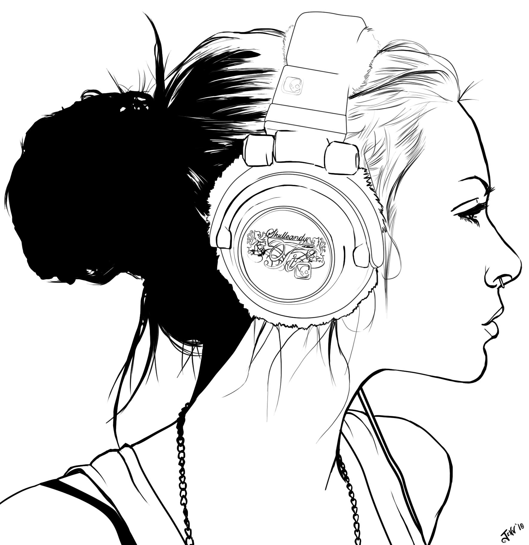 Headphones Outline Desenho Desenho Arte Desenhos Pra Pintar