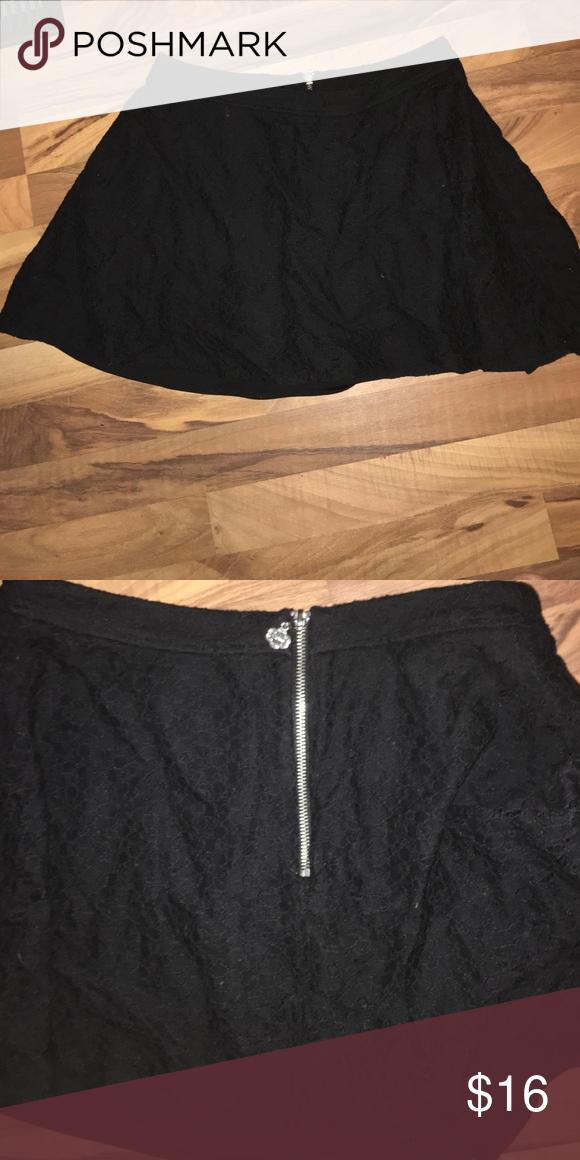Black quilted skirt Super cute dressy black skirt Skirts