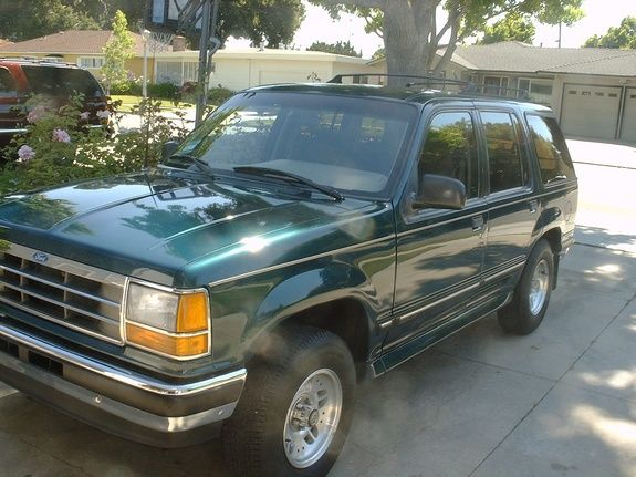 1993 Ford Explorer Exactly As Mine Looked It Had Gold Seats And