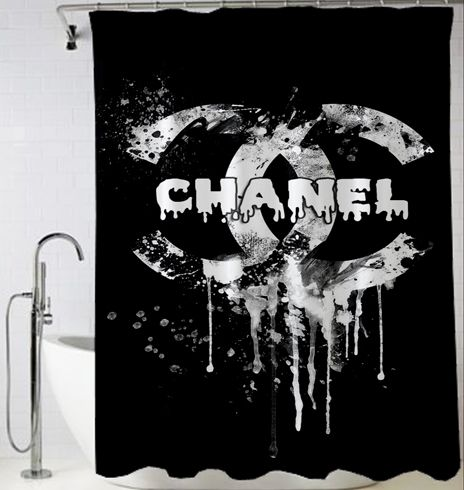 Chanel Logo Melt Shower Curtain