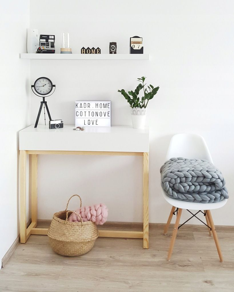 Waskie I Wysokie Biurko Z Szuflada Nord1 Konsola 7483531882 Oficjalne Archiwum Allegro Home Home Decor Furniture