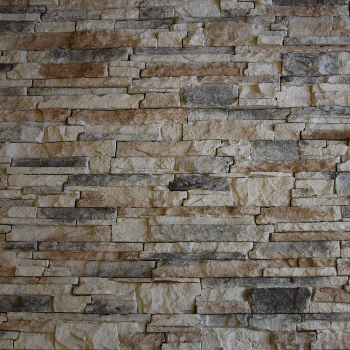 Native Faux Stacked Stone with Red Black and Brown Color from