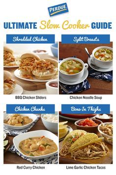 There's nothing better than coming home to a meal ready to go. We have slow cooker tips and 4 great recipes on Perdue.com. Prep the night before and you're ready to go!