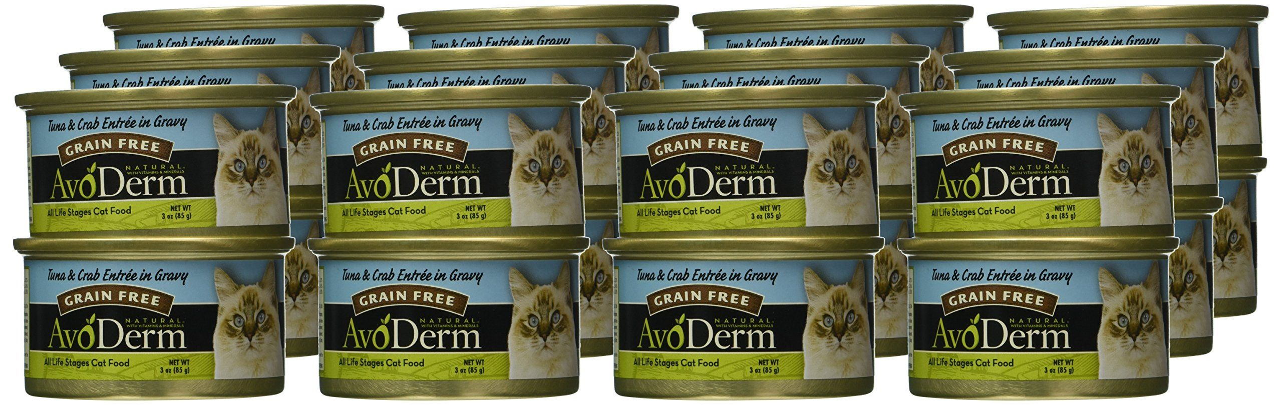Avoderm natural grain free wet cat food tuna and crab in