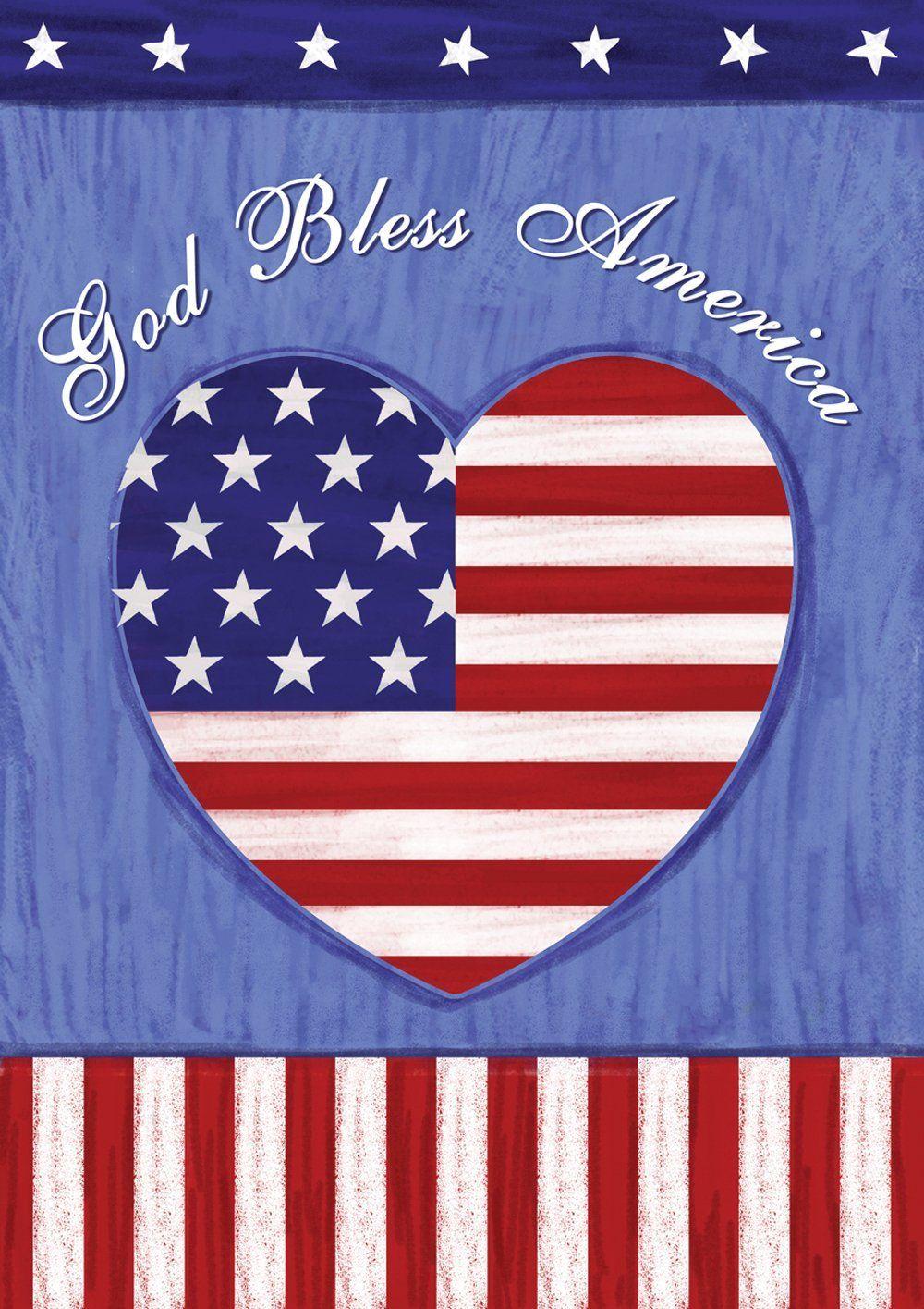 God Bless America Patriotic Garden Flag House Flags Flag