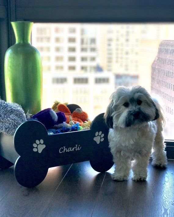 Dog Toy Box Dog Toy Storage Dog Lover Gift Dogmom Gift