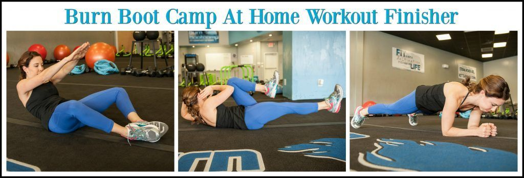 Burn boot camp at home workout with drop set finisher in