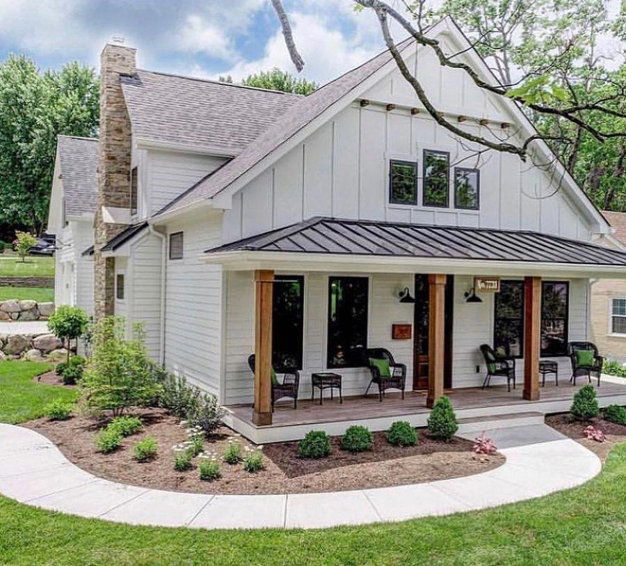 33 secrets to modern farmhouse exterior house plans dream homes 10 #farmhousehomedecoration #smallmodernfarmhouseplans