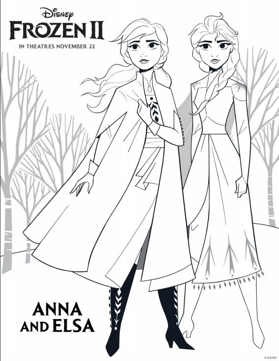 Disney's FROZEN 2 Coloring Pages Free disney coloring