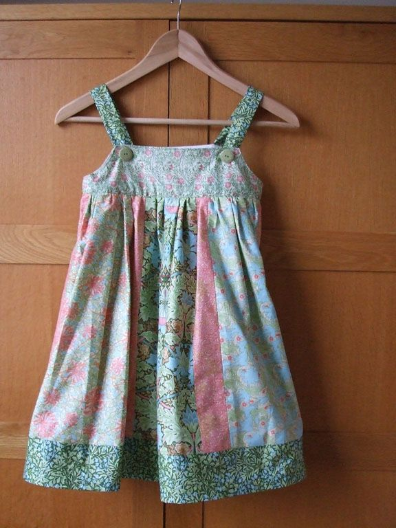 free sewing pattern - William Morris Mix Dress | Patterns for Little ...