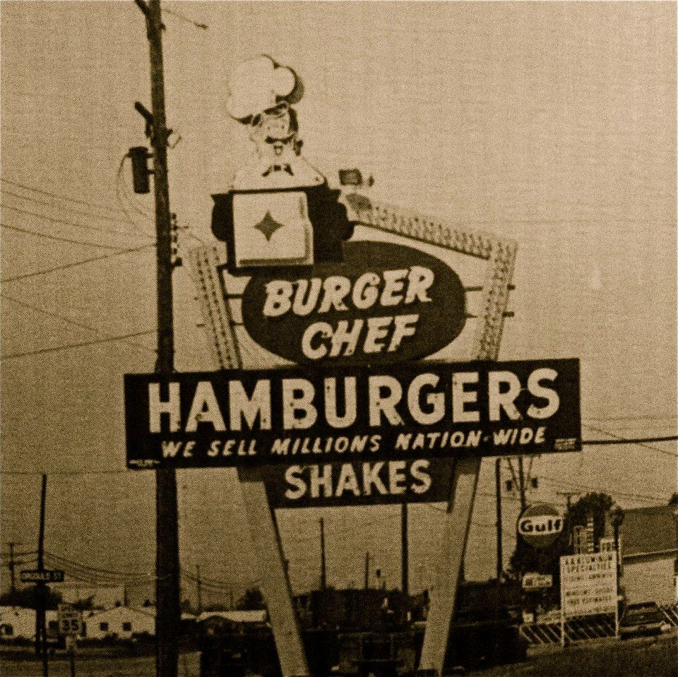 Burger Chef Was Across The Street From Yankee Store And The Record Shop Flint Michigan Detroit History Vintage Restaurant