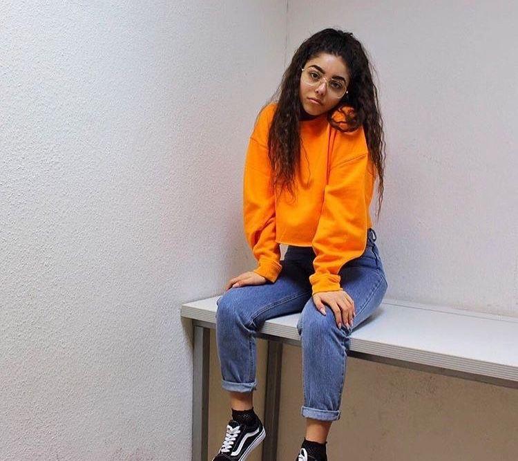 Orange Sweater Outfit Ideas