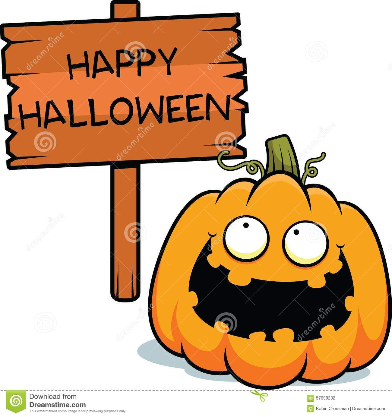 cartoonpumpkinhappyhalloweenillustrationsign57698282
