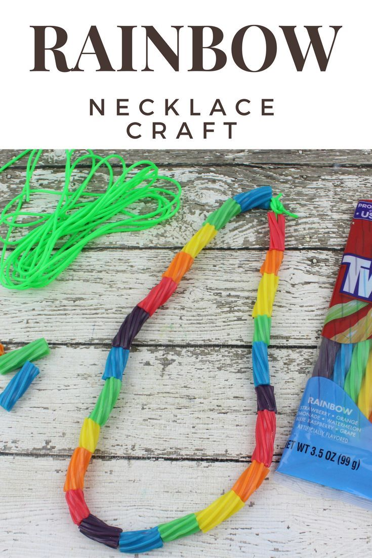 Preschool Rainbow Necklace Craft - Cute and fun craft for kids ...