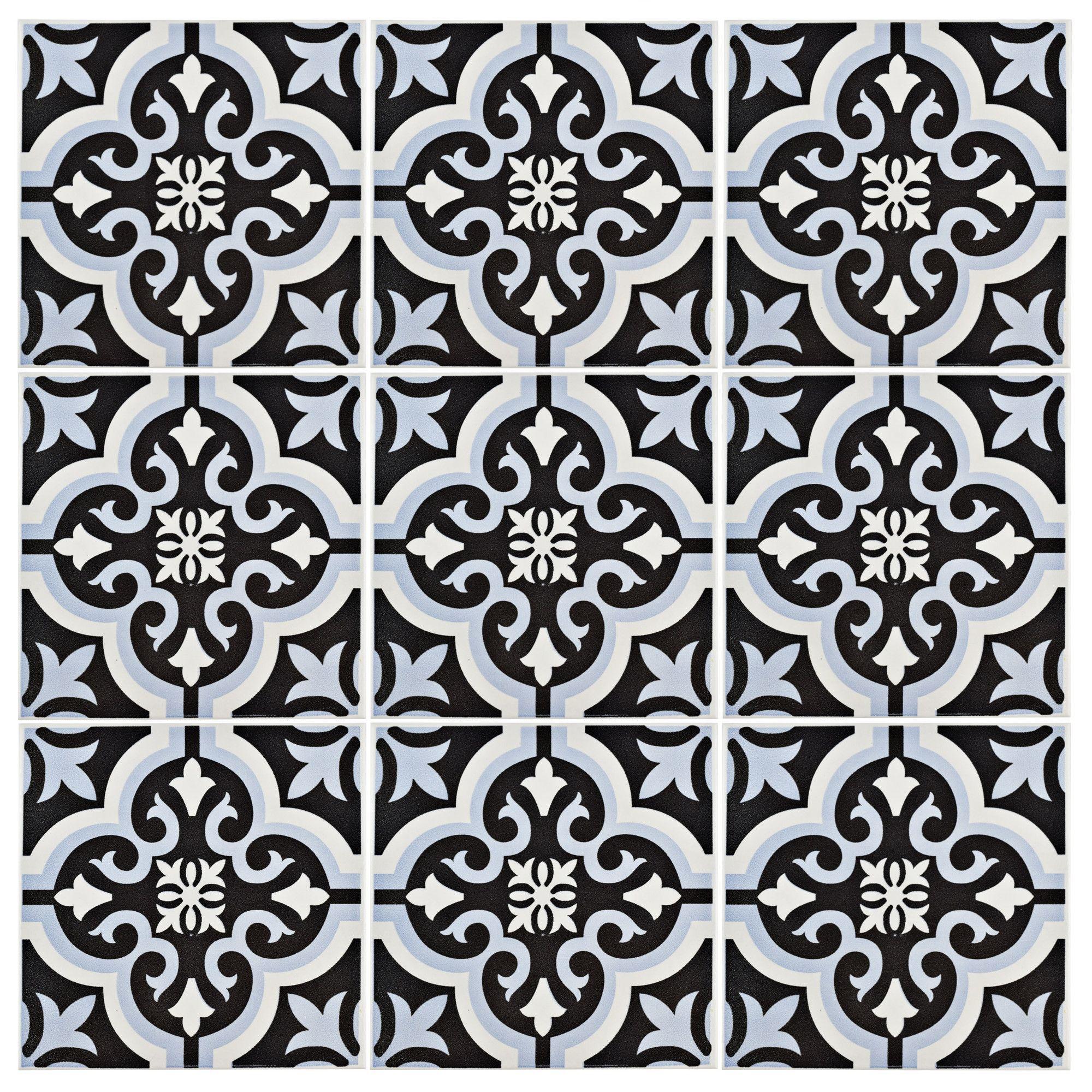 Lima 775 x 775 ceramic field tile in blueblack lima fields elitetile lima 8 x 8 ceramic tile dailygadgetfo Choice Image
