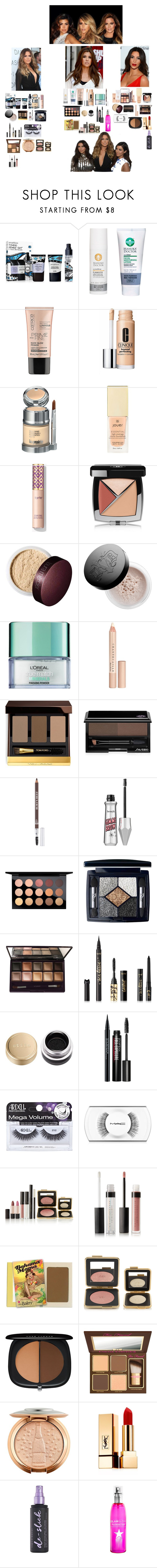 """Kim, Kourtney And Khloe Inspired Makeup"" by hayleyjacksonuk ❤ liked on Polyvore featuring beauty, By Terry, Smashbox, Charlotte Tilbury, Manuka Doctor, Clinique, La Prairie, Jouer, Chanel and Laura Mercier"