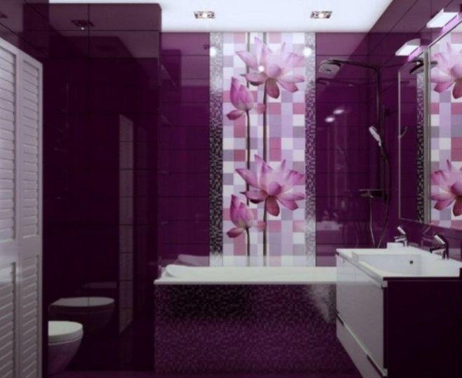 Modern Purple Bathroom Designs, Purple Bathroom Decorating Ideas Pictures