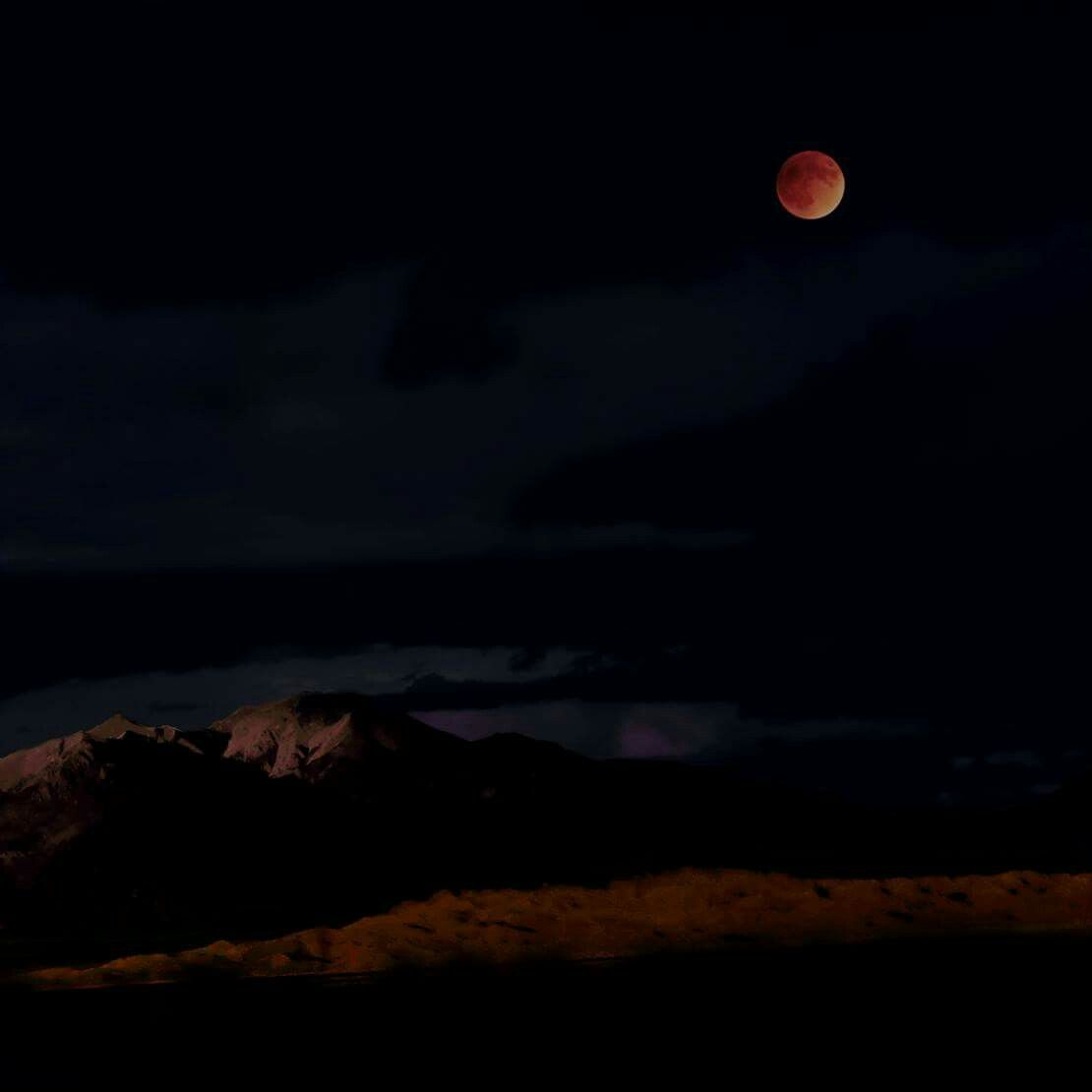 Lunar Eclipse Over Great Sand Dunes and Mount Herard NPS/Patrick Myers 2015  Seeing Great Sand Dunes in full moonlight is amazing enough, but seeing a lunar eclipse over them is out of this world!