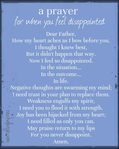A Prayer for When You Feel Disappointed and A Special Request | Prayer  quotes, Prayer scriptures, Prayers