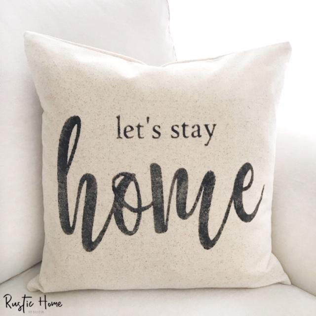 stay home throw pillow online