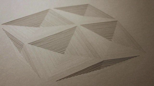 """Geometric pieces of paper created layer by layer by paper artist Elena Mír. Works created between 2009 to 2013.  www.elenamir.com/papercut www.facebook.com/Elena.Mir.papercut  music: Laura Barrett """"Stop Giving Your Children Standardized Tests"""" http://paperbagrecords.com/artists/laura-barrett"""