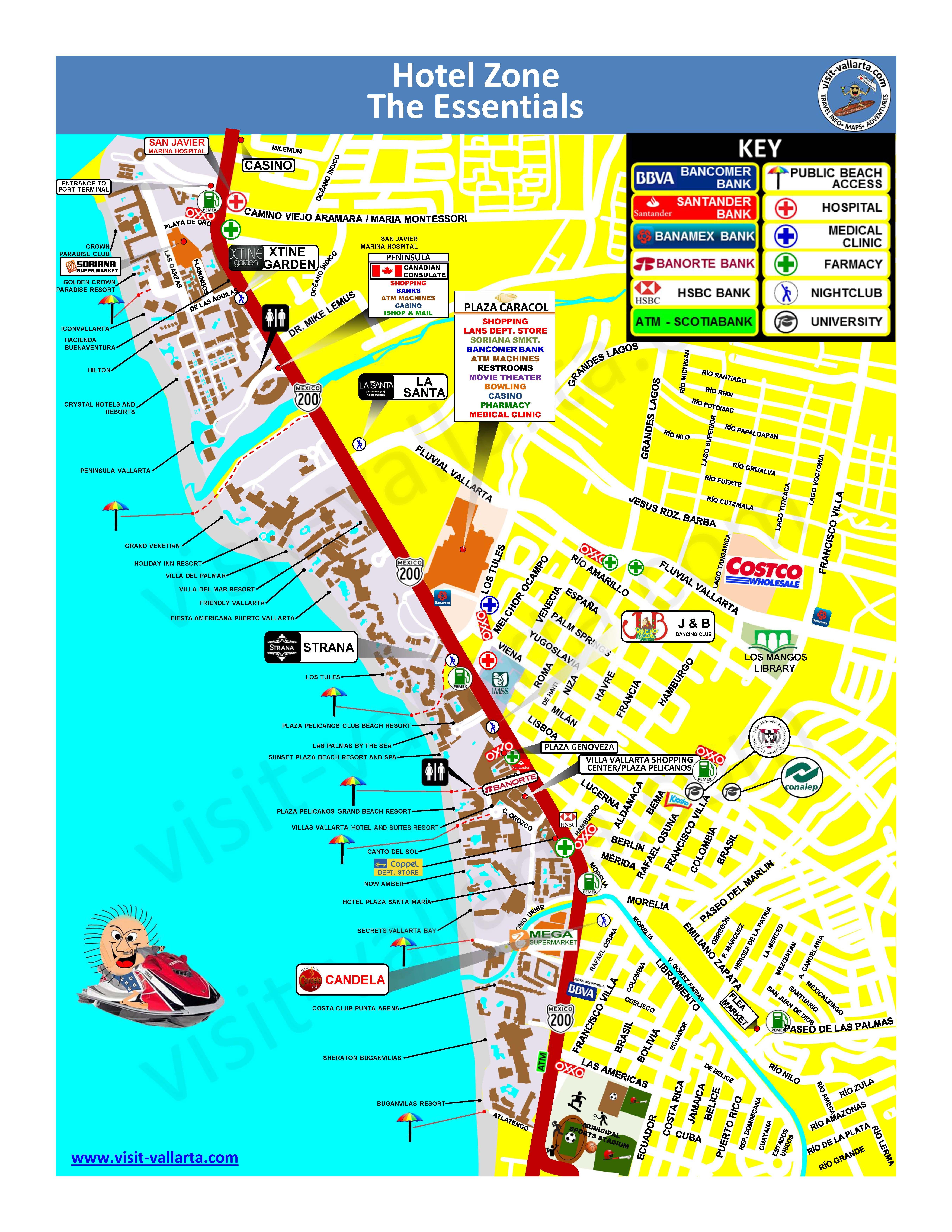 Puerto Vallarta Hotel Map : puerto, vallarta, hotel, Hotel, Puerto, Vallarta,, Banderas, Sayulita, Beautiful, Hotels
