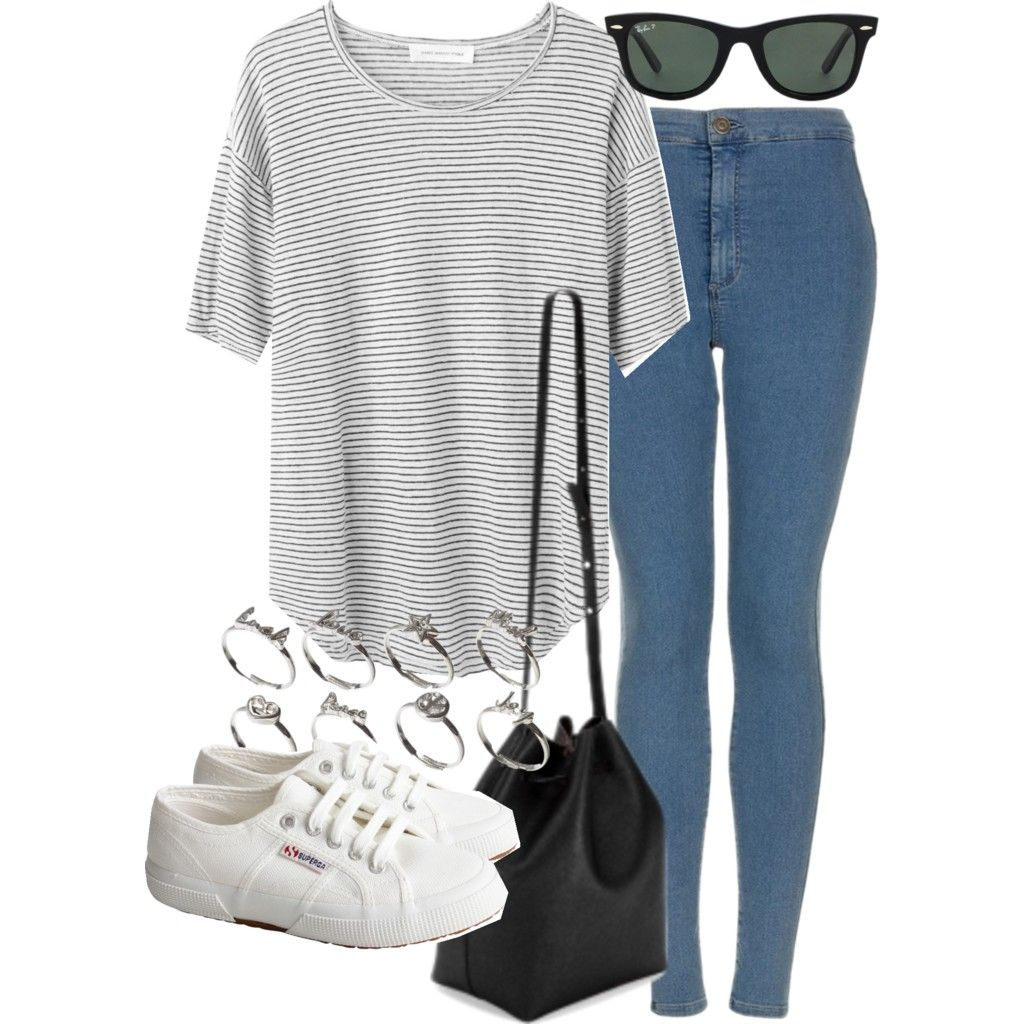 Untitled #13503 by florencia95 featuring high waisted blue jeans