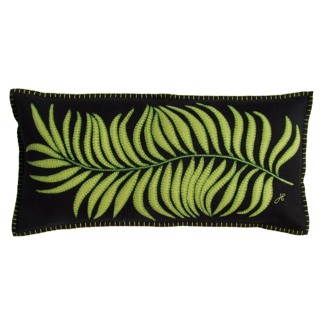 Designer Tropical Palm Leaf Cushion | Jan Constantine