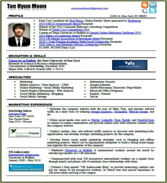 resume format examples 2014