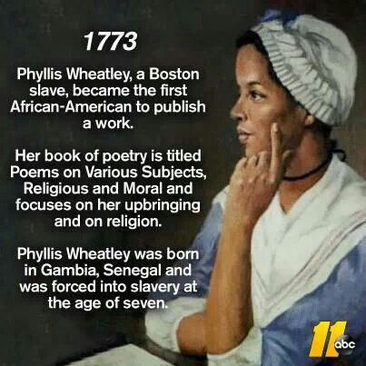 A biography of phillis wheatley the african american poet