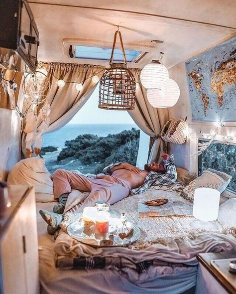 Super boho campers van life ideas /