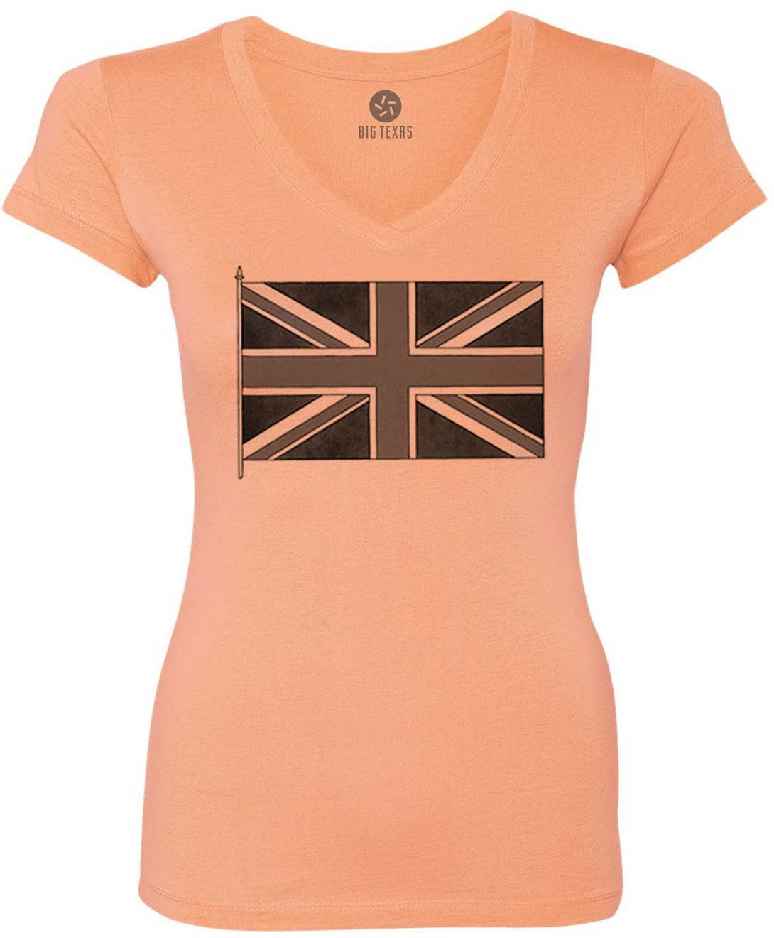 Old Union Jack (Black) Women's Short-Sleeve V-Neck T-Shirt