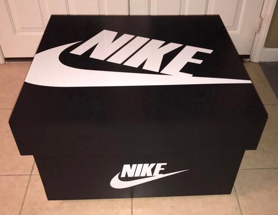 Nike Shoe Storage Box Black & Red Giant Shoe Storage  Giant Shoe Storage