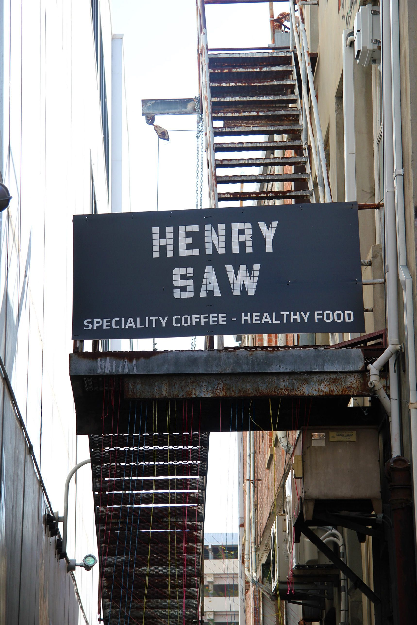 On The Grid Henry Saw Cafe Museum Of Perth Perth Cbd Perth Restaurant Signage Signage Healthy Coffee