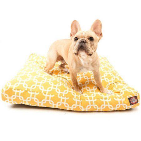 Majestic Pet Products Links Rectangle Outdoor Indoor Pet Bed Removable Cover, Yellow